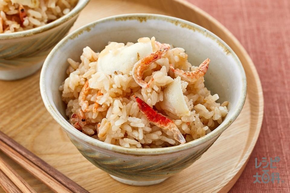 ゆり根と桜えびのだし炊きご飯(米+ゆり根を使ったレシピ)