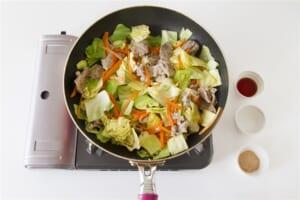 豚肉とキャベツの簡単和風炒めの作り方_1_2