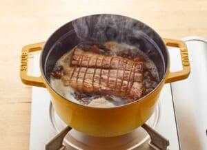 鶏と帆立だしの簡単煮豚の作り方_3_1