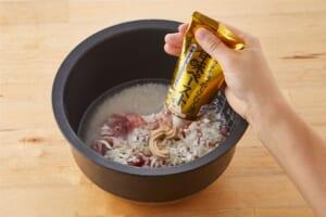 炊飯器で作る肉炒飯の作り方_2_0