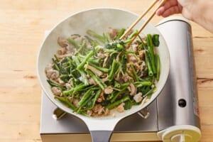 空心菜と豚肉のオイマヨ炒めの作り方_1_1
