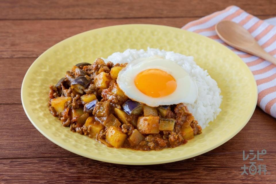 ゴロゴロ野菜の無水キーマカレー(合いびき肉+じゃがいもを使ったレシピ)