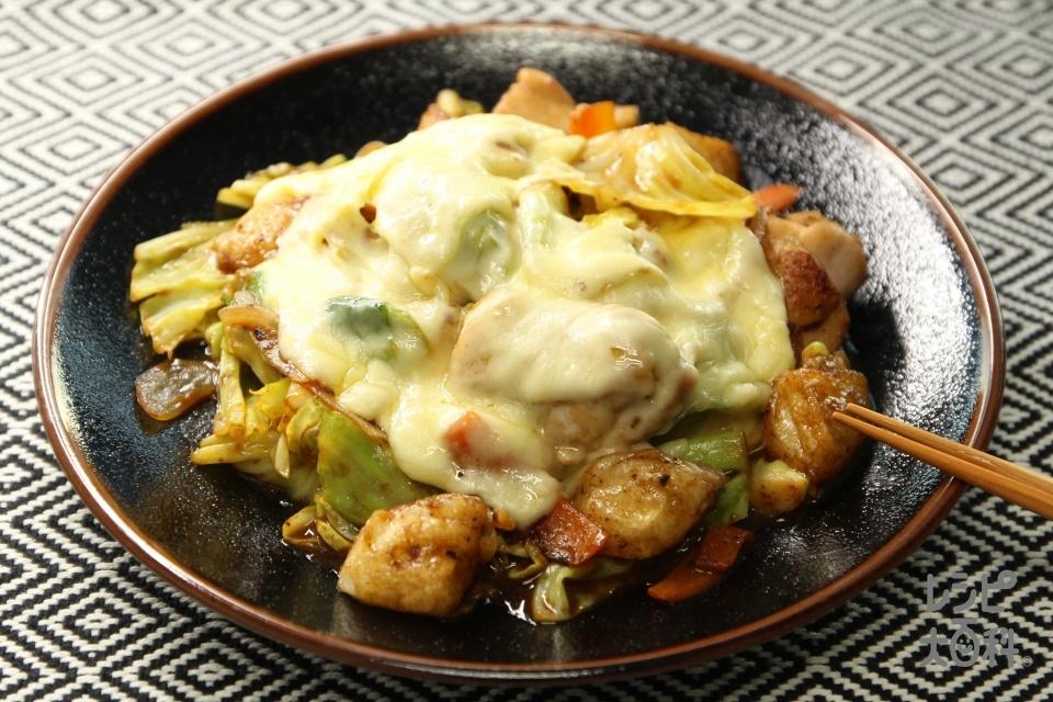 お餅で本場風!回鍋肉チーズタッカルビ(鶏もも肉+丸餅を使ったレシピ)
