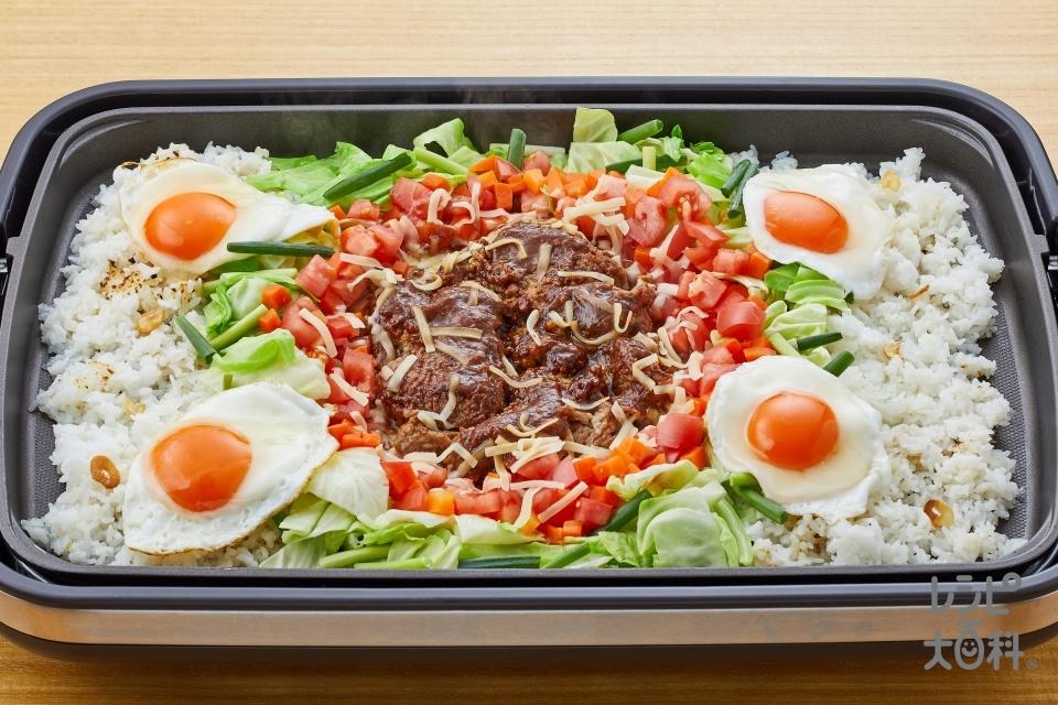 タコライス風 JAPAN肉みそキャベツ(ご飯+豚ひき肉を使ったレシピ)
