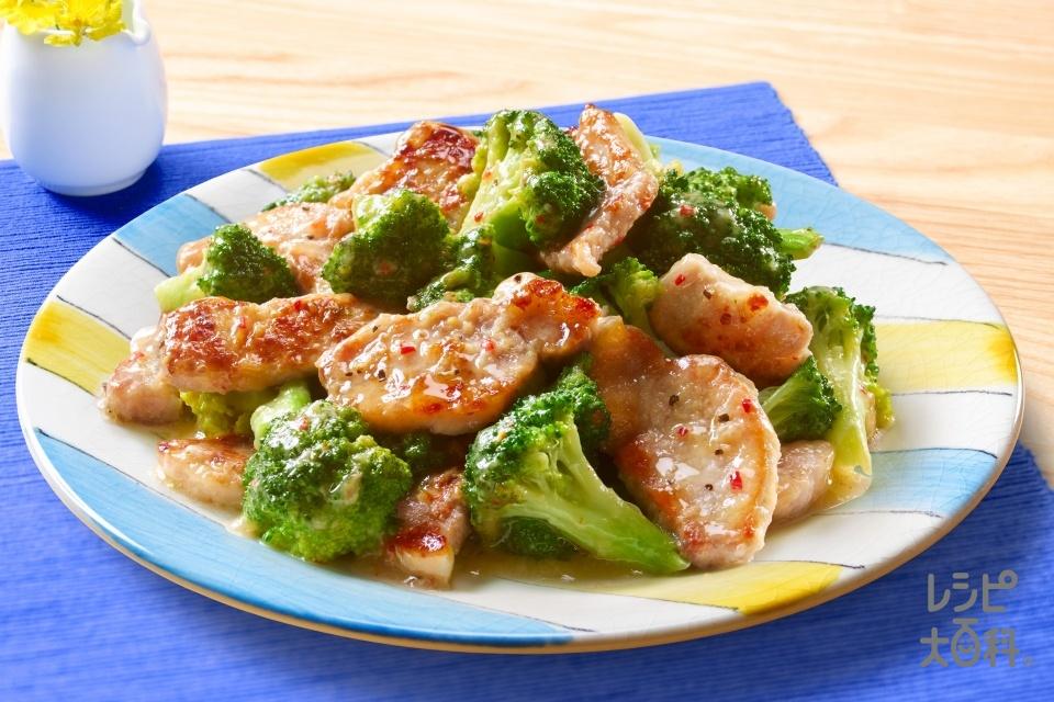 豚のアンチョビガーリックソース炒め(豚ロース肉+ブロッコリーを使ったレシピ)