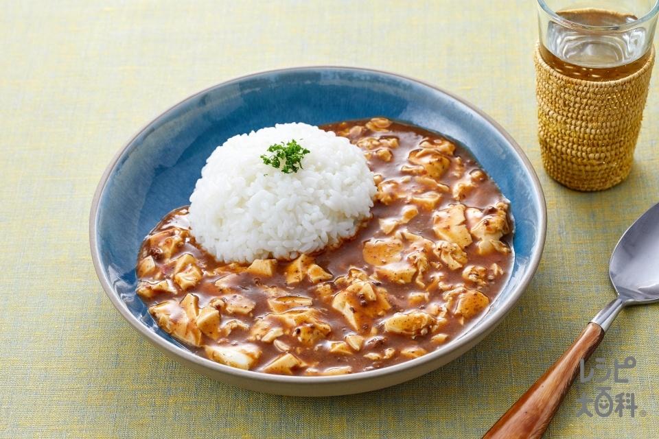 麻辣麻婆シチュー(絹ごし豆腐+温かいご飯を使ったレシピ)