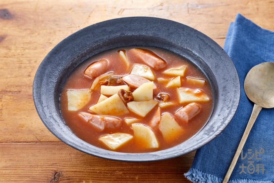 カムジャタンスープ(じゃがいも+ウインナーソーセージを使ったレシピ)