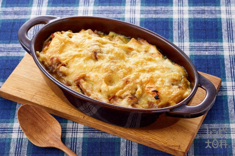 グリーンカレードリア(ご飯+シュレッドチーズを使ったレシピ)