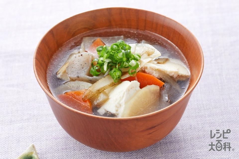けんちん汁<塩分控えめ>(木綿豆腐+大根を使ったレシピ)