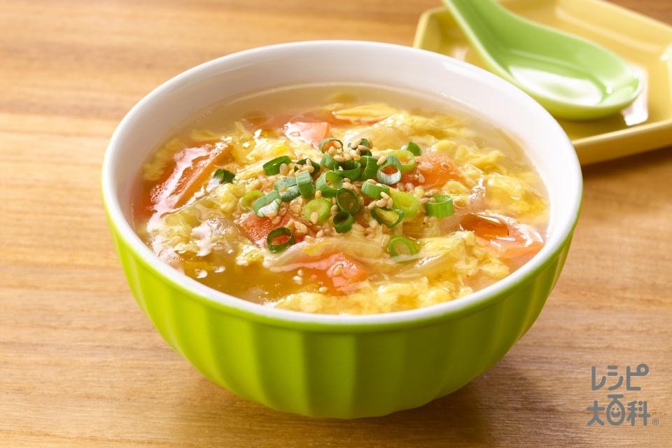 人参とろとろ中華スープ<塩分控えめ>(にんじん+卵を使ったレシピ)