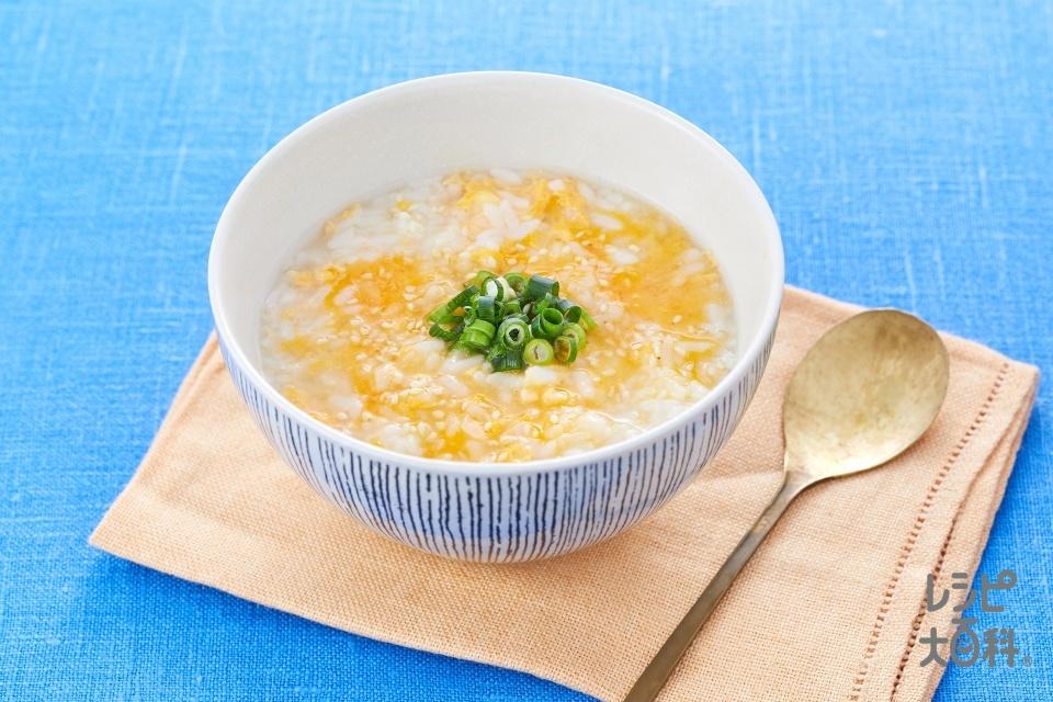 濃厚鶏だしの卵がゆ(ご飯+溶き卵を使ったレシピ)