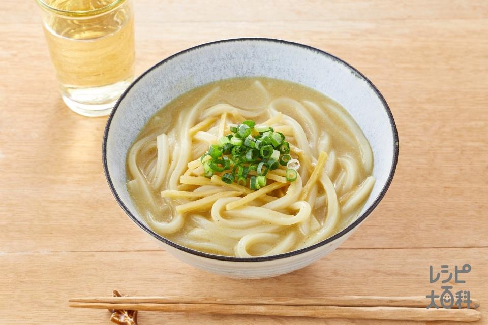 グリーンカレーうどん(冷凍うどんを使ったレシピ)