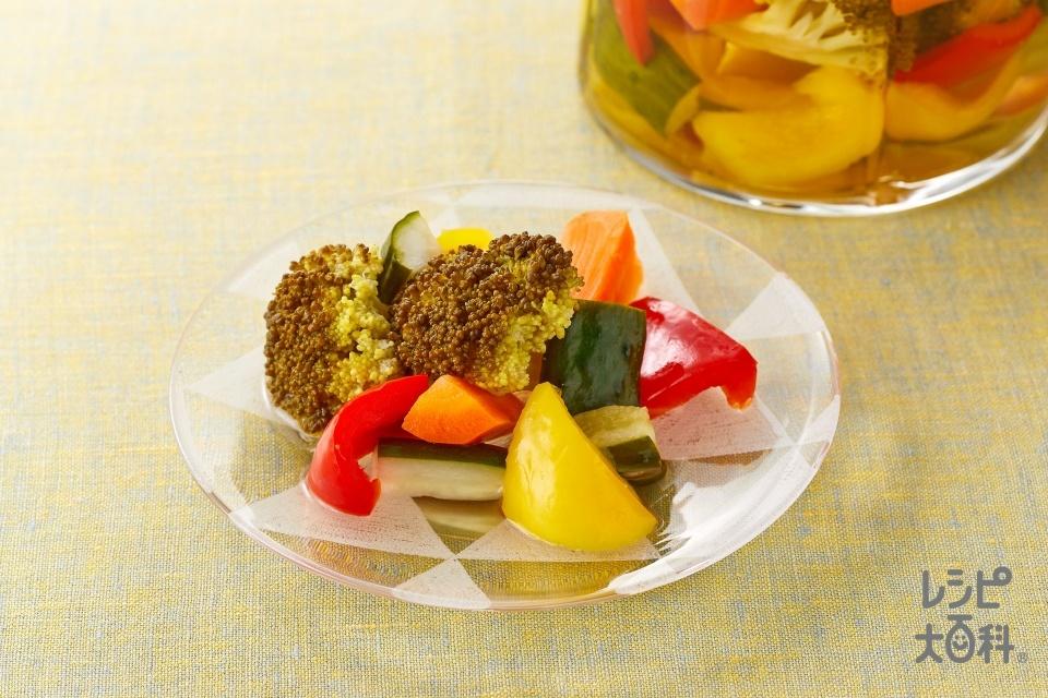Elma(りんご酢)ピクルス(ブロッコリー+にんじんを使ったレシピ)