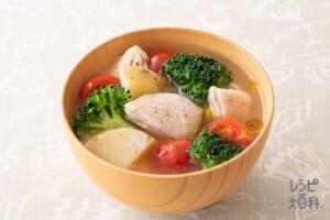 鶏肉とブロッコリーのイタリアン風みそ汁