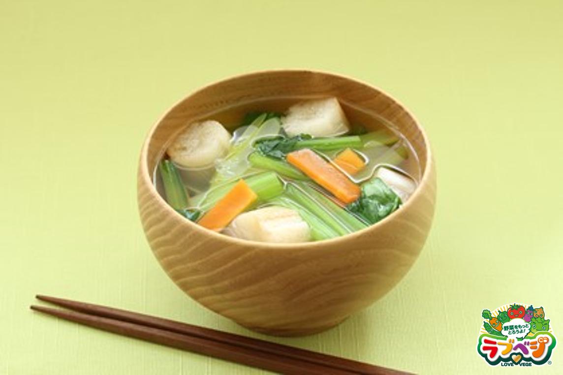 小松菜のすいとん風