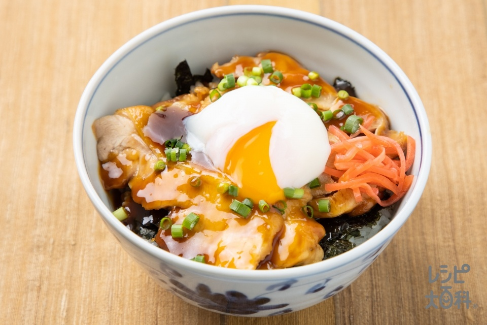 「スチーミー」鶏チャーシュー丼(鶏もも肉+ご飯を使ったレシピ)