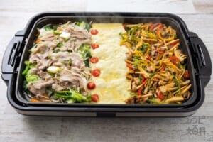 たっぷり野菜とお肉の蒸ししゃぶ × パプリカと豚肉の彩り青椒肉絲