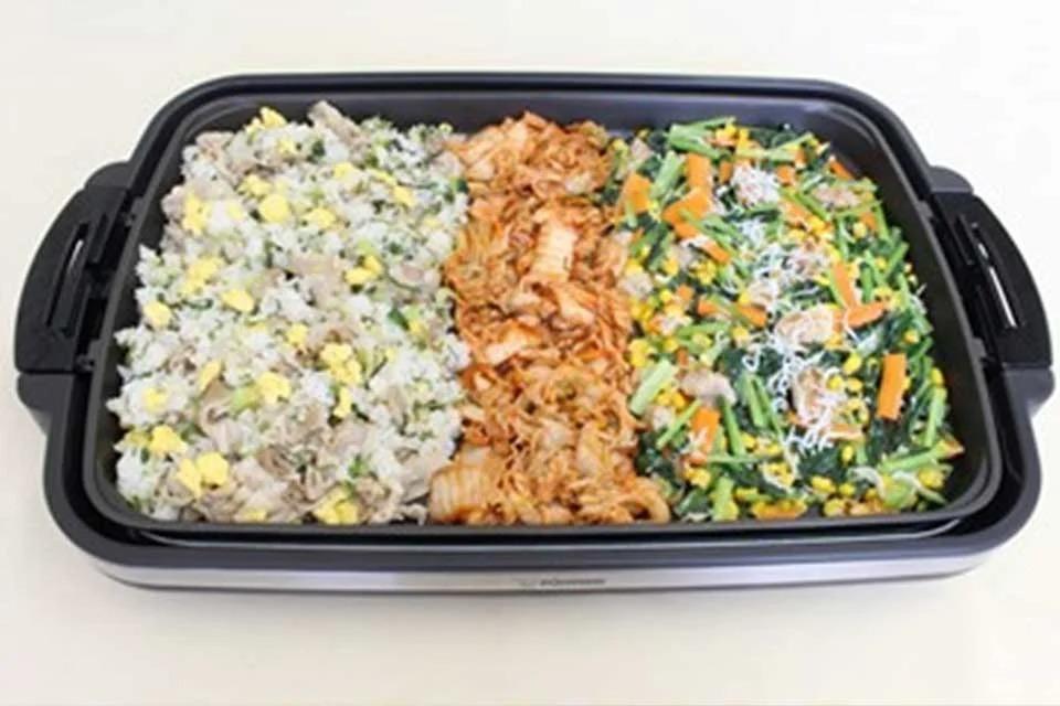 チンゲン菜と豚肉のスタミナチャーハン × 鶏肉と小松菜のだしマヨ炒め