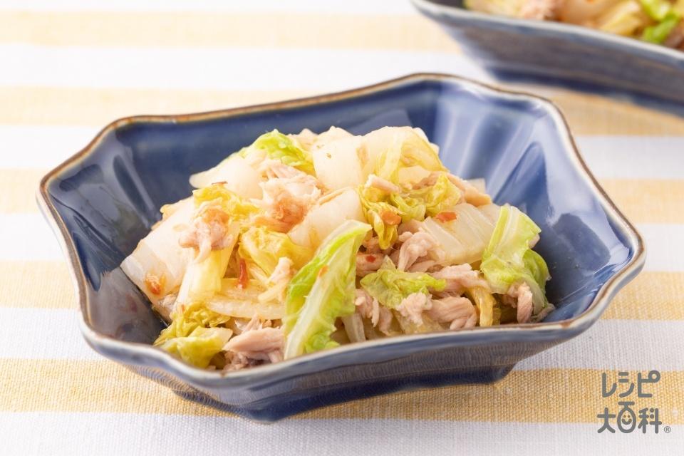 うま辛!白菜ツナナムル(白菜+ツナ油漬缶を使ったレシピ)