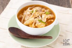 うま辛!豚バラの韓国風スープ