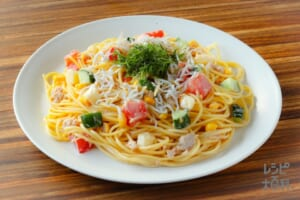 野菜とツナの和風サラダスパゲッティ