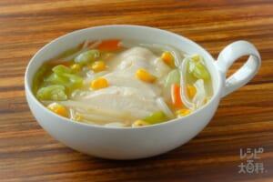 サラダチキン入り香味スープ
