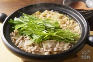 豚バラと水菜のはりはり鍋