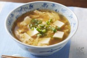 豆腐のかき玉汁