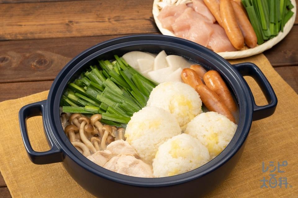 新感覚!お茶漬け風濃厚白湯鍋(温かいご飯+鶏むね肉を使ったレシピ)