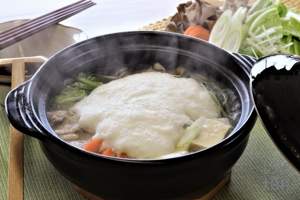 豚バラと白菜のふわふわ雪鍋