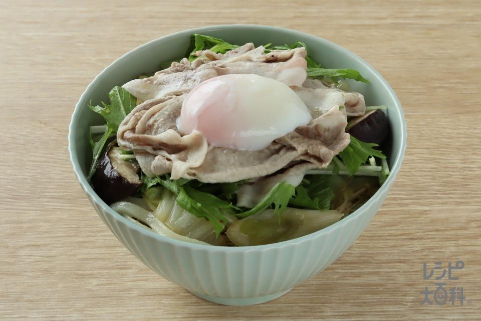 冷製豚すきうどん(冷凍うどん+豚ロースしゃぶしゃぶ肉を使ったレシピ)