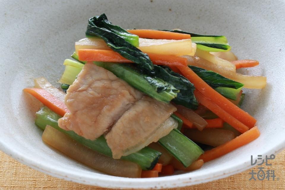 大根と小松菜のオイスターソース炒め