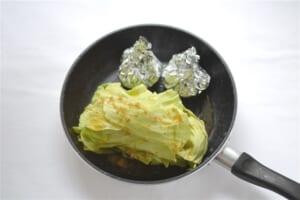 キャベツとベーコンの重ね煮とコーンバターの作り方_2_1