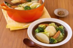 ソーセージとざく切り野菜のポトフ<塩分控えめ>の作り方_3_0