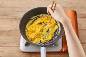 豆苗ともやしのふわとろ卵炒めの作り方_1_0