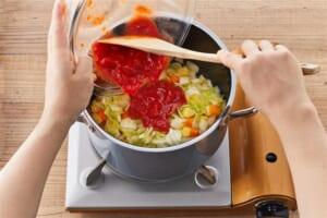 たっぷり野菜のミネストローネ<塩分控えめ>の作り方_1_0