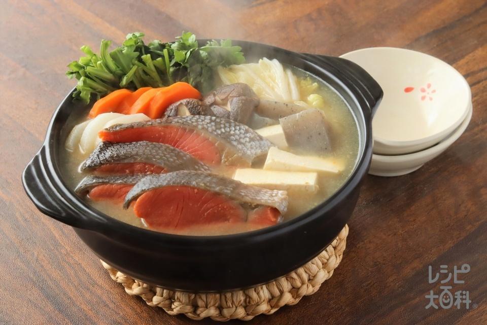 簡単!石狩鍋(さけ+木綿豆腐を使ったレシピ)