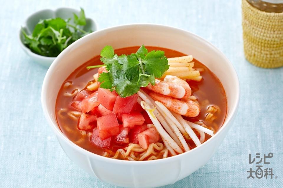 さっぱりトマト!「Yum Yum」トムヤムクンヌードル(無頭えび+トマトを使ったレシピ)