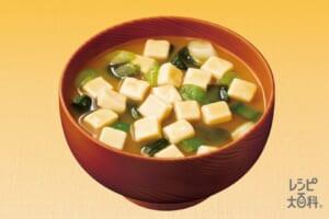 「具たっぷり味噌汁」豆腐 減塩